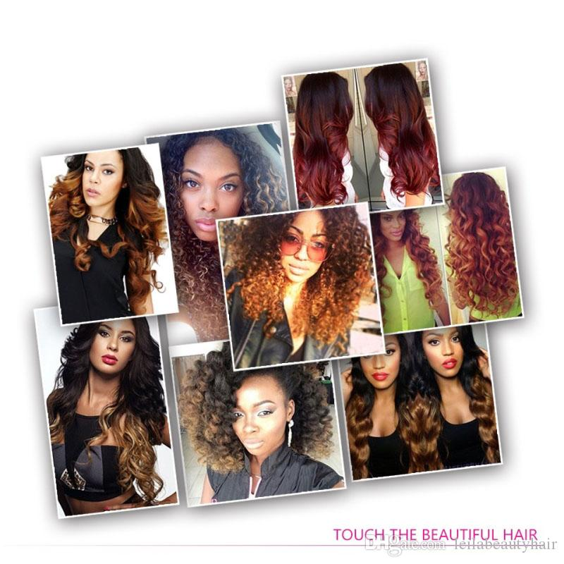 Brazilian Virgin Hair Ombre Three Tones 1B/4/27 Straight Human Hair Extensions 3 Bundles 10-28inch 1B 4 27 Weaves Hair Wefts