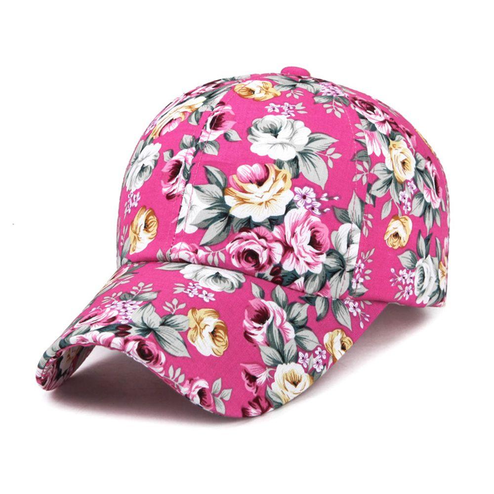 ffa4c42138a 2018 Floral Print Baseball Cap Nylon Fastener Tape Novelty Vintage Fashion  Summer Uv Protection Korean Casual Baseball Hats Army Cap Cheap Hats From  Lantana ...