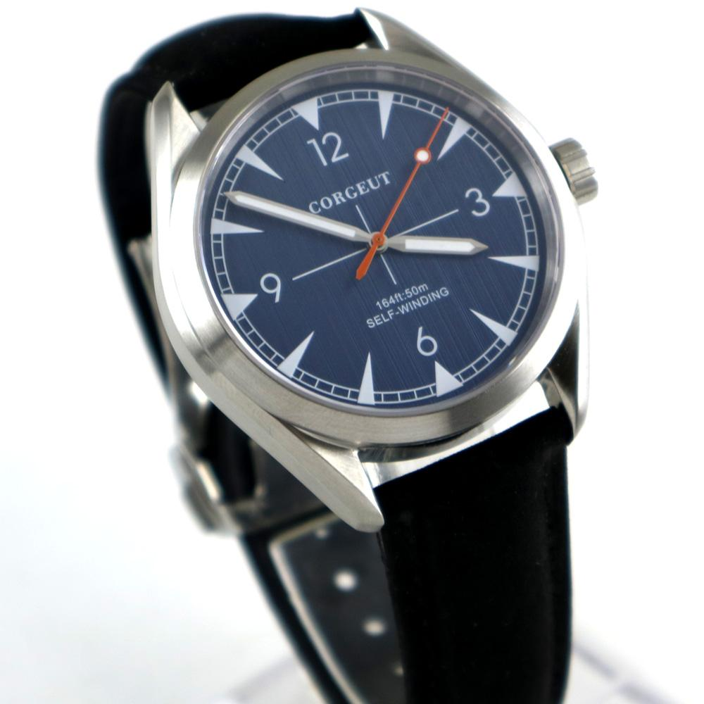 62871ab33 Brushed 39mm men s watch blue dial sapphire glass 21 jewels MIYOTA  Automatic movement mens Watch