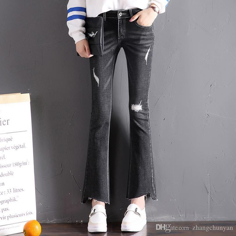 6dd8590968366 2019 A Line Sexy Jeans For Women New Arrivals Spring And Summer Skinny Denim  Jeans Elastic Waist Trousers Female Bottom Clothes From Zhangchunyan, ...
