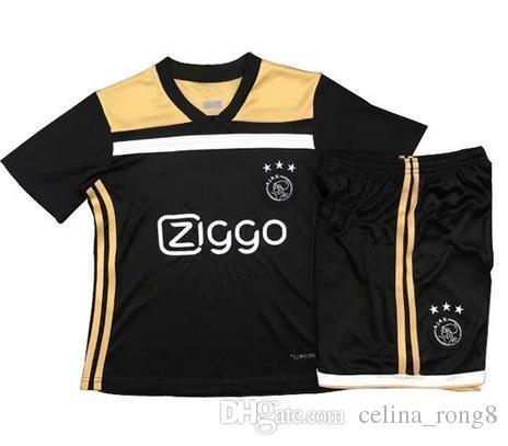 d0bd30eac 2019 Thai Quality 18 19 Ajax FC Kids Soccer Jersey 2018 KLAASSEN FISCHEA  BAZOER MILIK Home Away Football Uniforms Shirt AJAX Kids Children S From ...