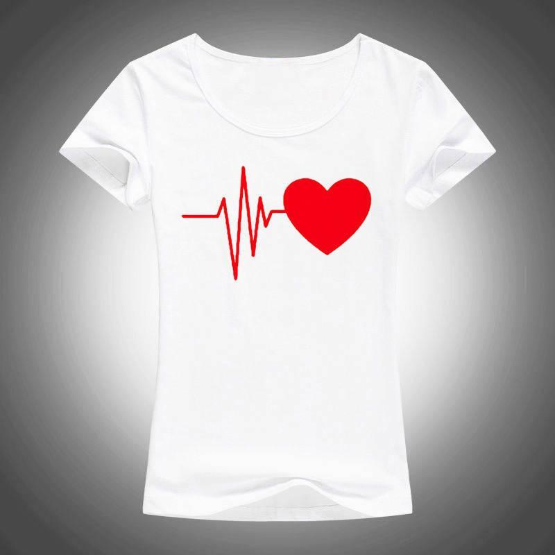 656aa9f43b81f Compre Camisetas Personalizadas Camisetas De Manga Corta Para Mujer De La  Impresión Del Amor Del O Cuello De Las Mujeres De La Moda A  10.89 Del ...