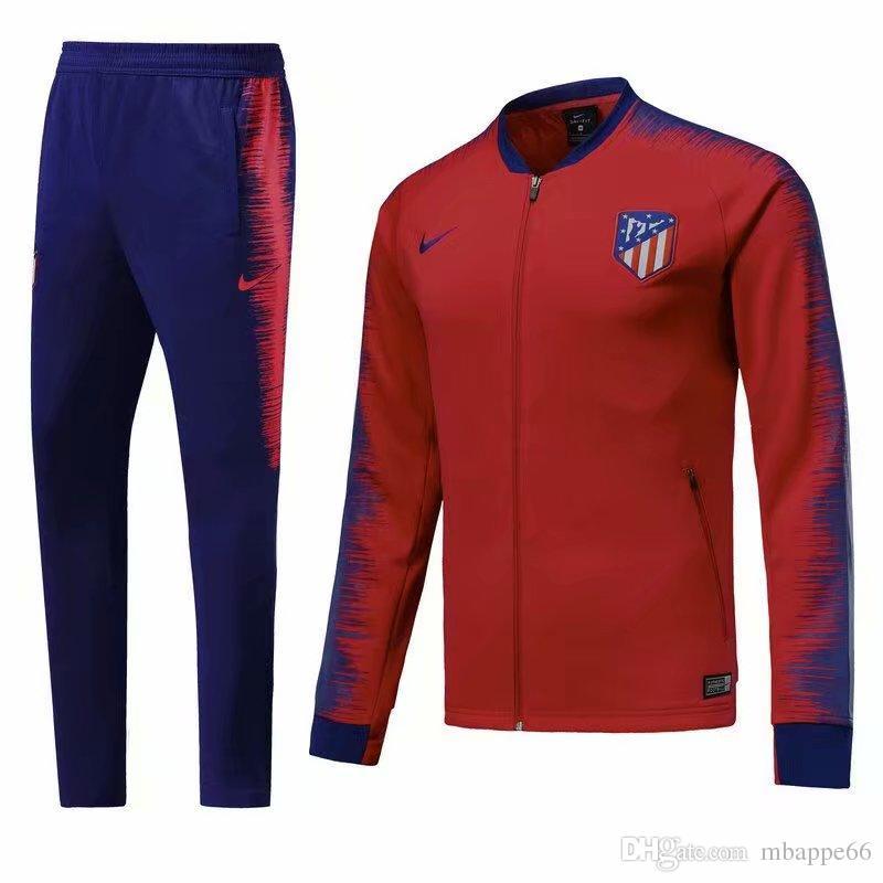 Compre Mejor Venta De Nuevo 18 19 Temporada Chaqueta Atlético De Madrid  2018 2019 Hogar Lejos De Costa Griezmann Chándales Camiseta De Fútbol Traje  De ... 5b1a5403b589e