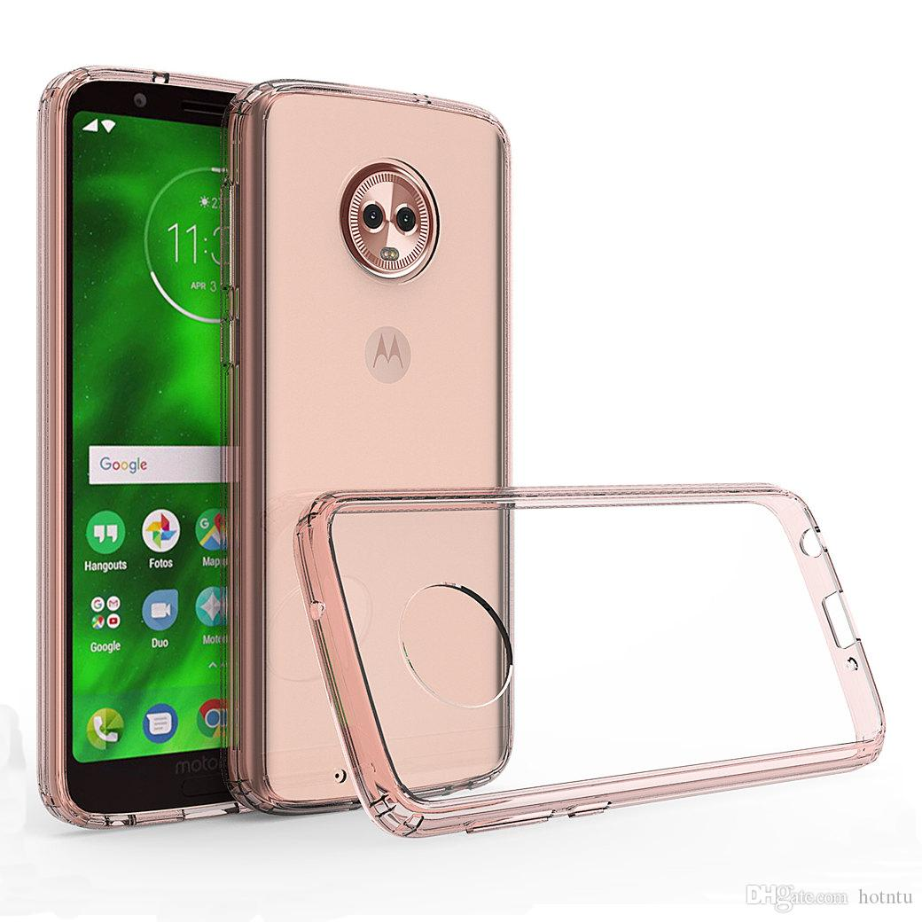 quality design 9c014 72125 For Moto G6 / G6 Plus / G6 Play Transparent Case Shockproof Soft TPU Bumper  Clear PC Back Cover Air Cushion Phone Fitted Cases