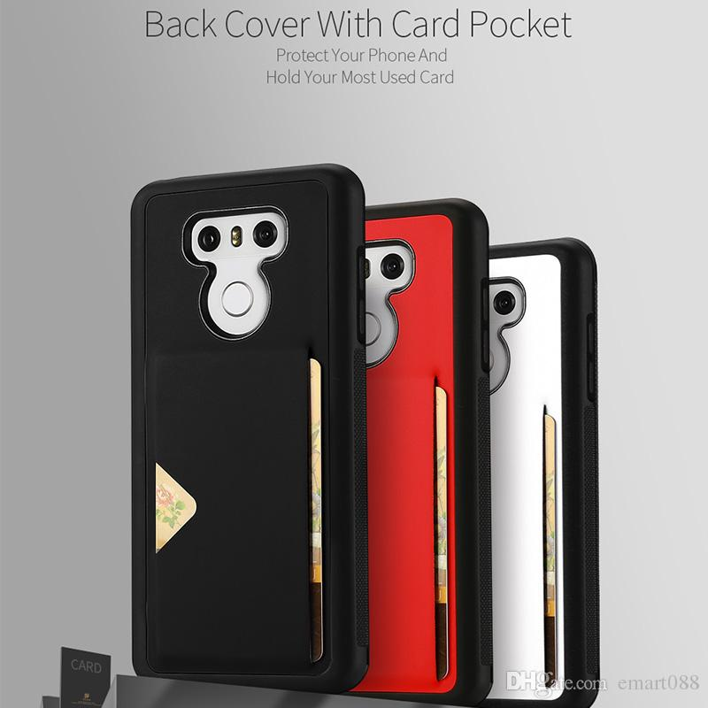 official photos 98217 0da6d DUX DUCIS For LG 6 Case with Card Holder LG6 Phone Cases Leather Case  Protectibe Back Cover Lg6 Accessories