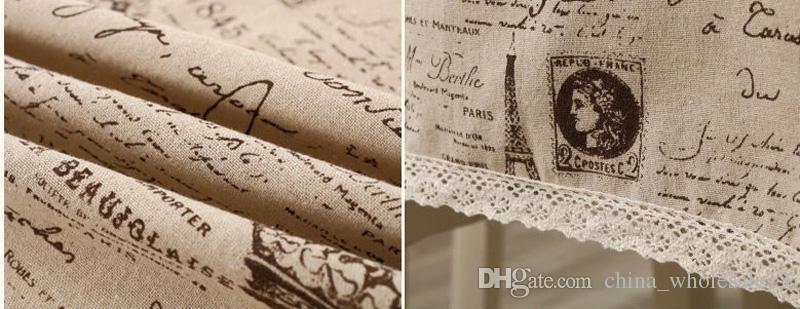 Großhandel Crown Muster Dekorative Tischdecke Baumwolle Leinen ...