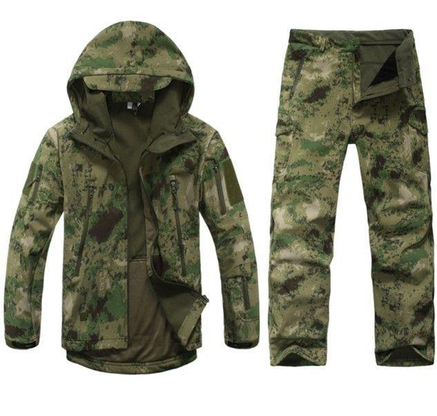 TD V 4.0 Soft Shell al aire libre chaqueta táctica militar Pythons grano Lurker piel de tiburón impermeable a prueba de viento deportes ejército ropa