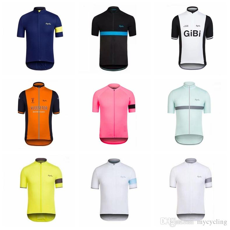 2018 100% Polyester Cycling Jersey RAPHA Summer Mountain Bicycle Clothing  Maillot Ciclismo Racing Bike Clothes Cycling Clothing D0903 RAPHA Cycling  Jersey ... 755a5f644