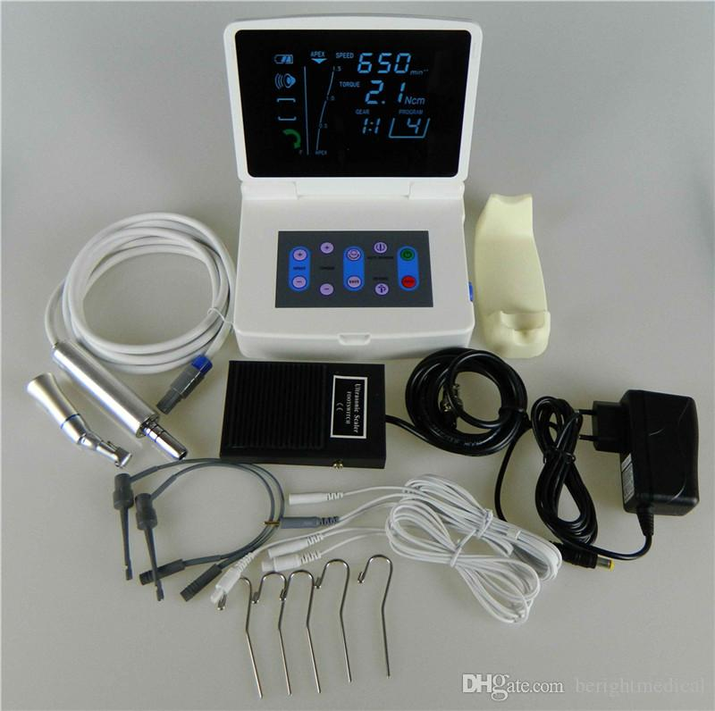 Dental Endodontic treatment LCD Display with Apex Locator Root Canal Meter Endo Motor with Treatment Handpiece