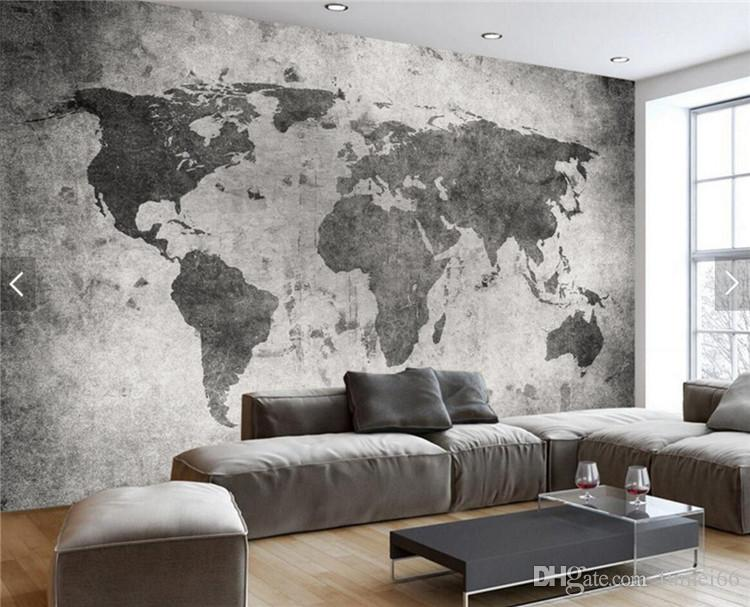 European Vintage Retro World Map Wall Bar Coffe Shop Murals bedroom Photo Wallpaper Landscape any size