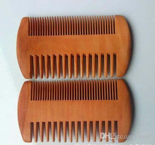 De madera de bolsillo barba peine doble lados súper estrecha madera gruesa Combs Pente Madeira piojos pelo mascota herramienta