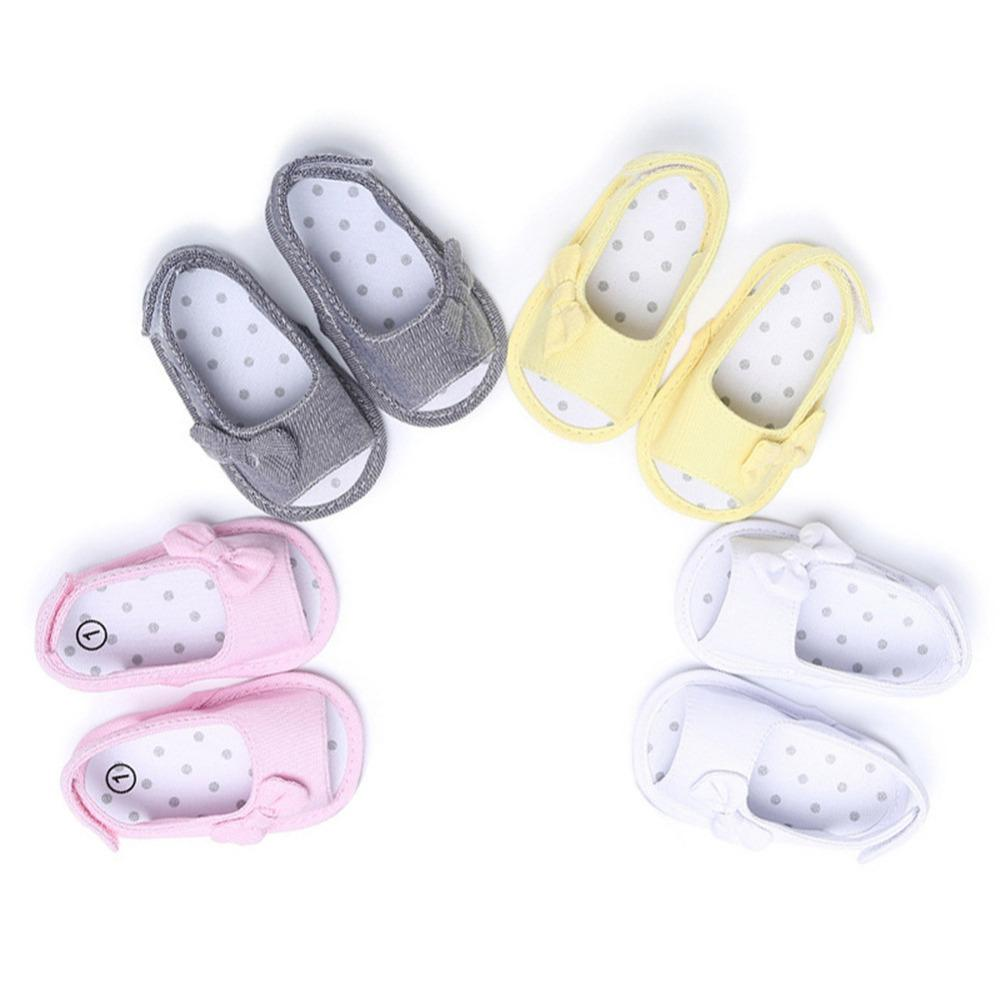Baby Shoes First Walkers Girl Bowknot Baby Shoes Sneaker Anti-slip Soft Sole Toddler