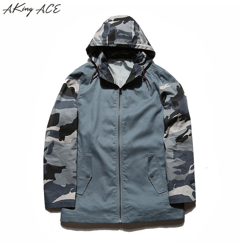 d900325a4 Hooded Windbreaker Jacket For Men Digital Camouflage Jacket Fashion With  Hood Mens Camo Brand Clothing AKing ACE ZA300 Jacket Styles Men In Style  Jackets ...