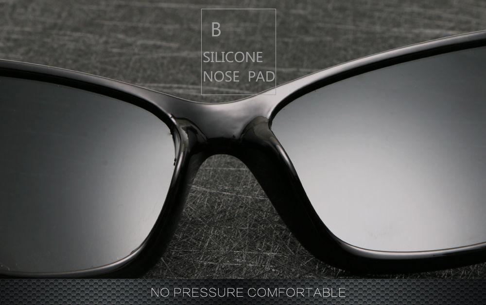 Gafas de sol deportivas polarizadas al aire libre 2018 de los nuevos hombres UV400 Transmitencia de la luz visible 80% 5 clases de selección de color.