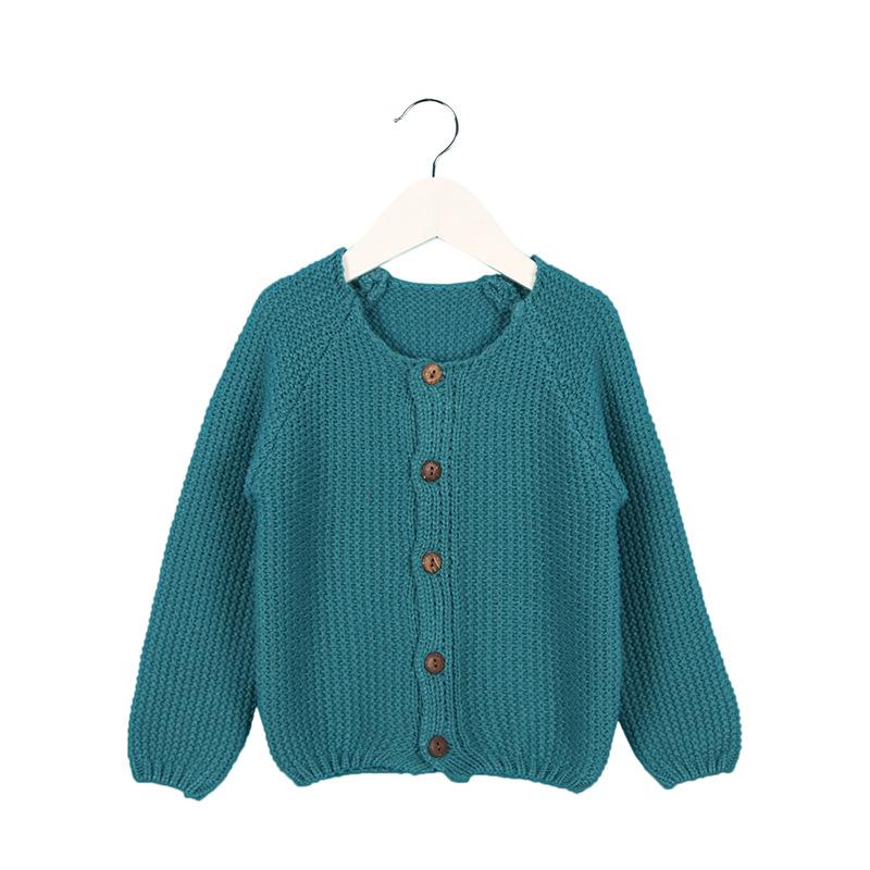 5752893fa Brand New Baby Girls Cardigan Kids Sweater Solid Wool Knied Long ...