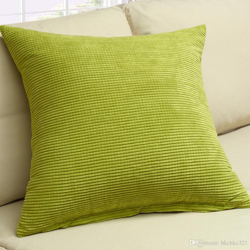 M MOCHOHOME Commercio all'ingrosso di velluto a coste decorativo solido quadrato tiro cuscino federa cuscino divano divano letto - 18