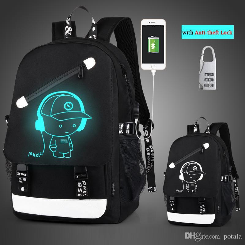 43 26 12CM Noctilucent Cool Boys Girl Outdoor Backpack 48 29 17CM 17   19    Anime Luminous Backpack Daypack Shoulder School Bag Laptop Bag Backpacks In  ... faded39e658b8