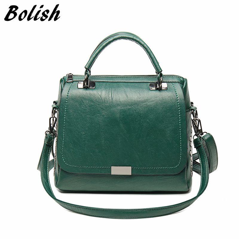Bolish Casual Women Soft Pu Leather Handbag Female Shoulder Bag Messenger  Bag Larger Size Winter Women Purses Designer Handbags From Trendone, ... 9f2c1f50c0