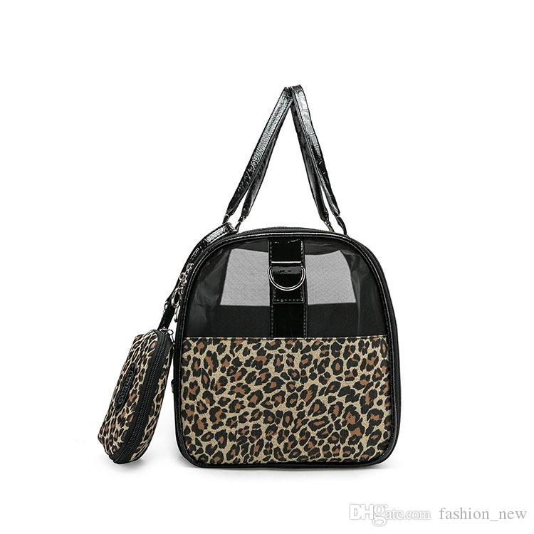 Luxury Leopard Pet Cat Small Dog Travel Carrier Bag Outdoor Pu Leather Portable Dog Chihuahua Carrying Tote Bag With Purse Cheap Discount
