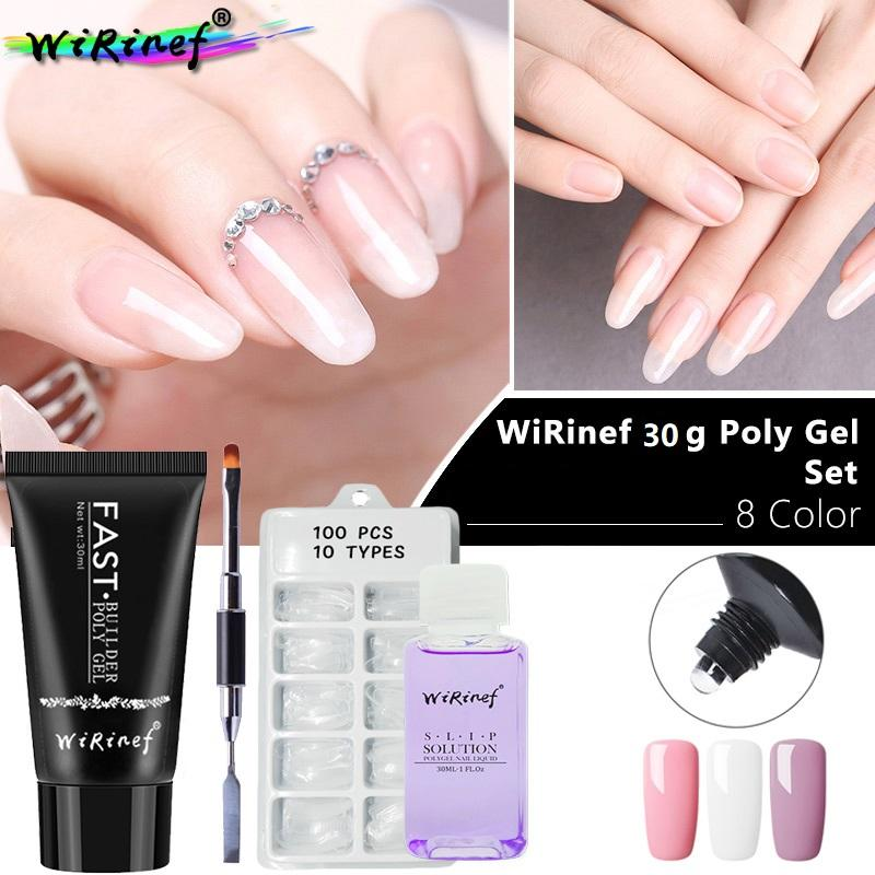 Wirinef Uv Nail Gel Pink Colors Acrylic Poly Gel Fast Uv Builder Camouflage Extension Fingernails Nail Lacquer Set