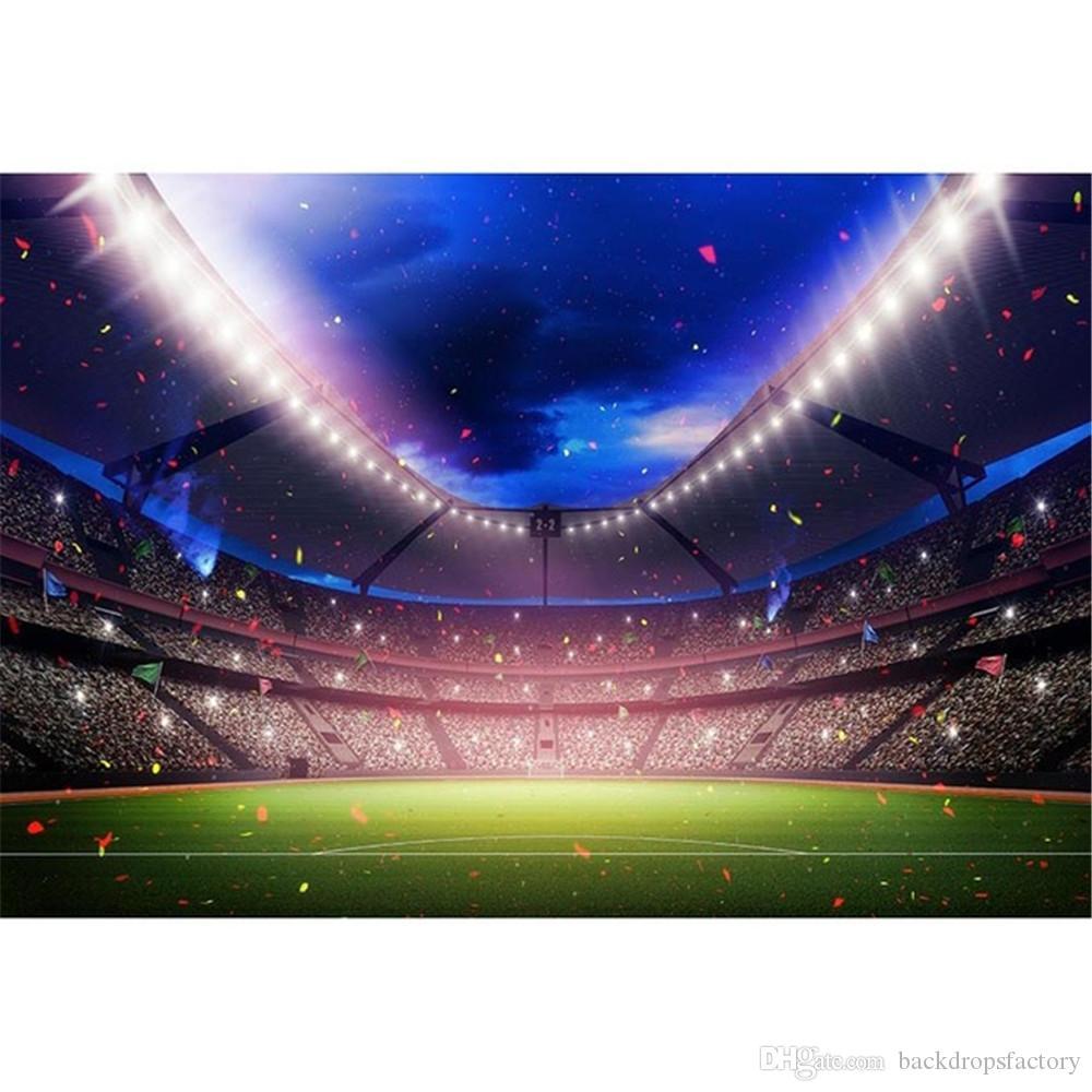Acquista Sfondo Di Campo Da Calcio Verde Sfondo Blu Cielo Nastri