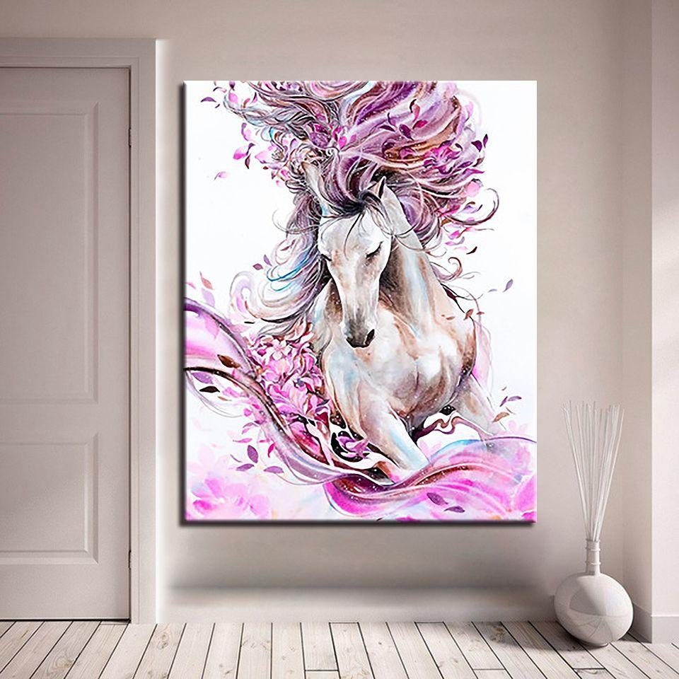 Acquista Dipinto A Mano Con I Numeri Dipinto A Mano Astratto Cavallo