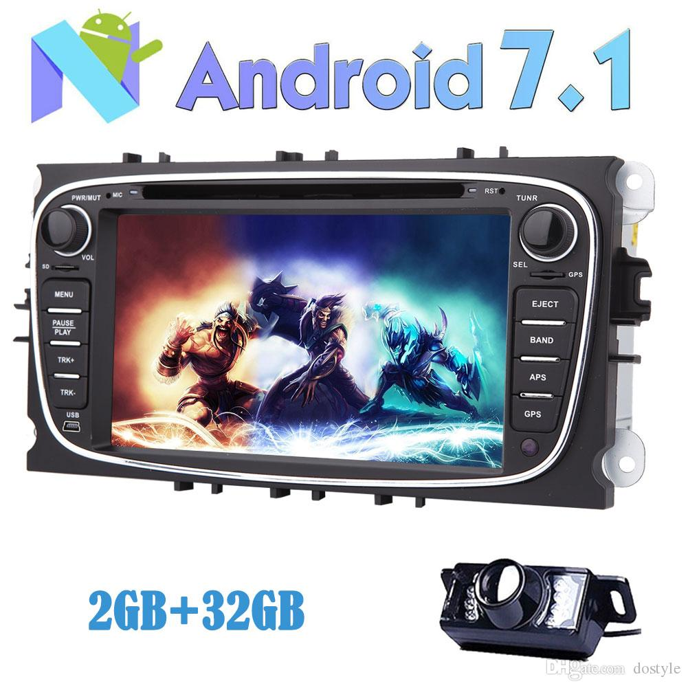 RearView Camera EinCar Android 7.1 Car dvd Stereo for Ford Focus 7'' Double Din In Dash GPS Navigation Vehicle Radio Receiver Bluetooth
