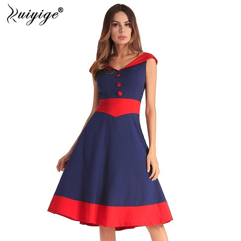 2fe15ebd8267 Ruiyige Women 2018 Sexy Patchwork Casual Midi Dress Backless V Neck ...