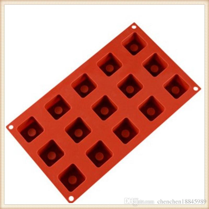 15 hole square mousse Cake Mold Silicone Soap Mold For Handmade Soap Candle Candy bakeware baking moulds kitchen tools ice molds
