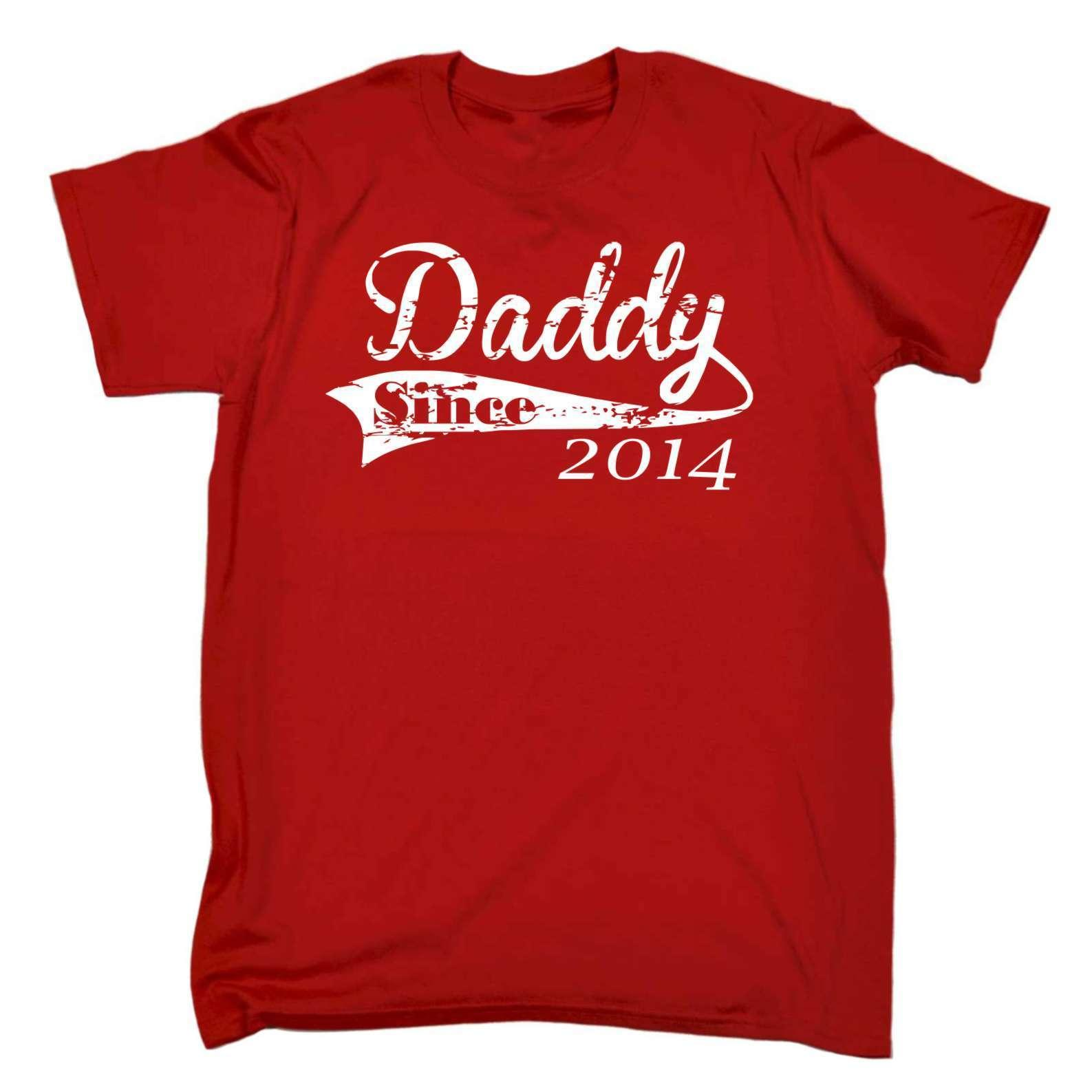 5430bac7e237 Men S Red Medium Daddy Since 2014 Cheap T Shirt Family Nice Gift The Who T  Shirt T Shirts Designs From Shirtainly