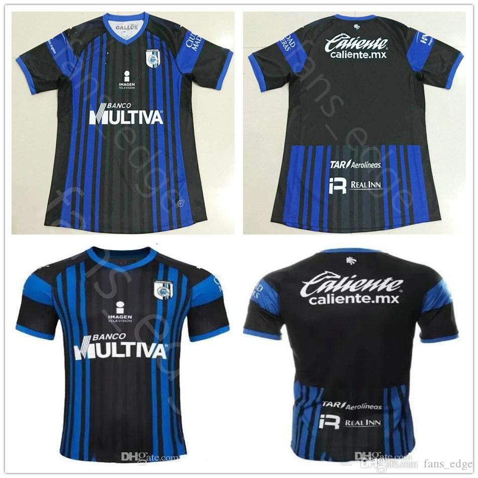 2018 2019 Mexico Club Queretaro FC Camisetas De Fútbol Camilo Sanvezzo  Gomez Triho Jaime Noriega Bornstein Inicio Black Custom 18 19 Football Shirt  Por ... 71a65a7bd97b3