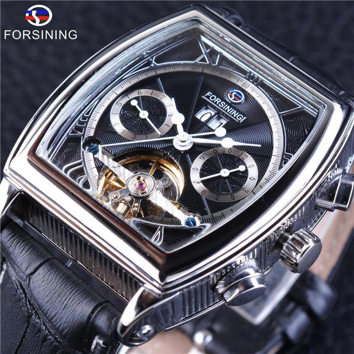 50e6b69556c Forsining Multifunction Retro Series Rectangle Dial Luminous Hands Business  Design Men Automatic Wrist Watches Top Brand Luxury Expensive Watches  Watches ...