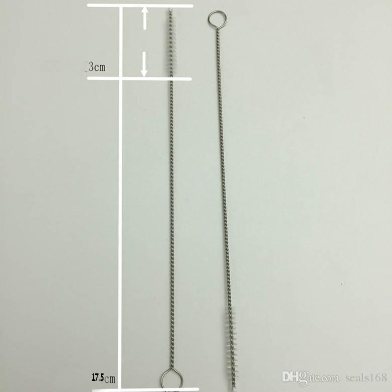 Paslanmaz Çelik Payet İçme Temizleme Fırçası Boru Tüp Biberon Bardak Kullanımlık Ev Temizleme Araçları 175 * 30 * 5mm HH7-1071