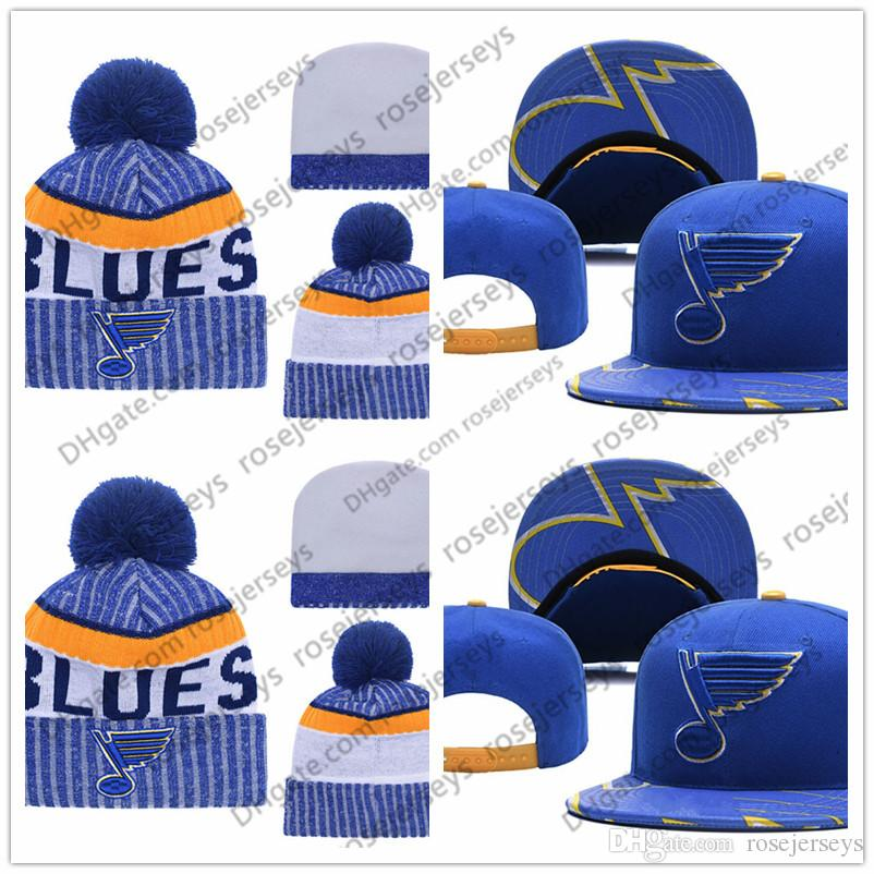 2018 St Louis Blues Ice Hockey Knit Beanies Embroidery Adjustable