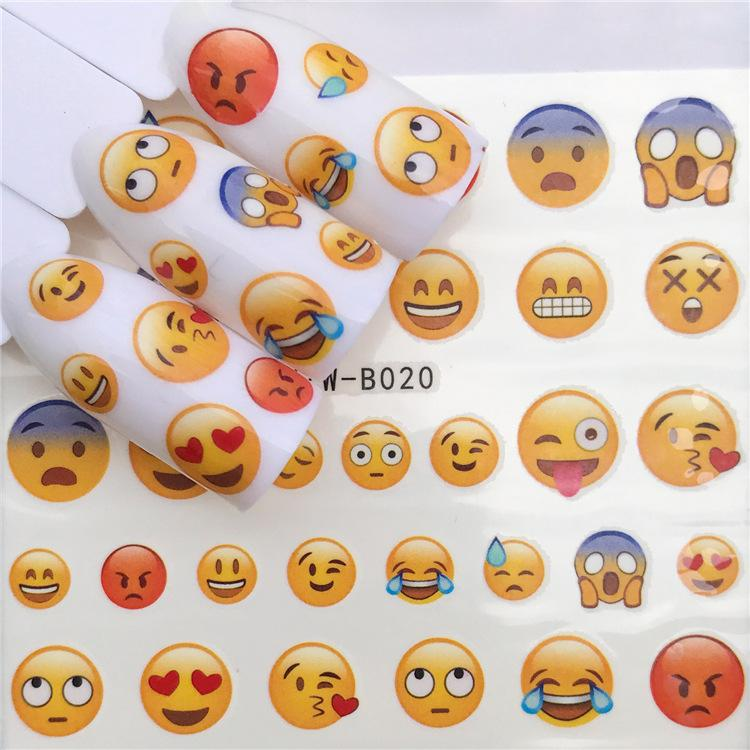 Stickers For Nails Water Decals Emoticon Nail Sticker Slider Art