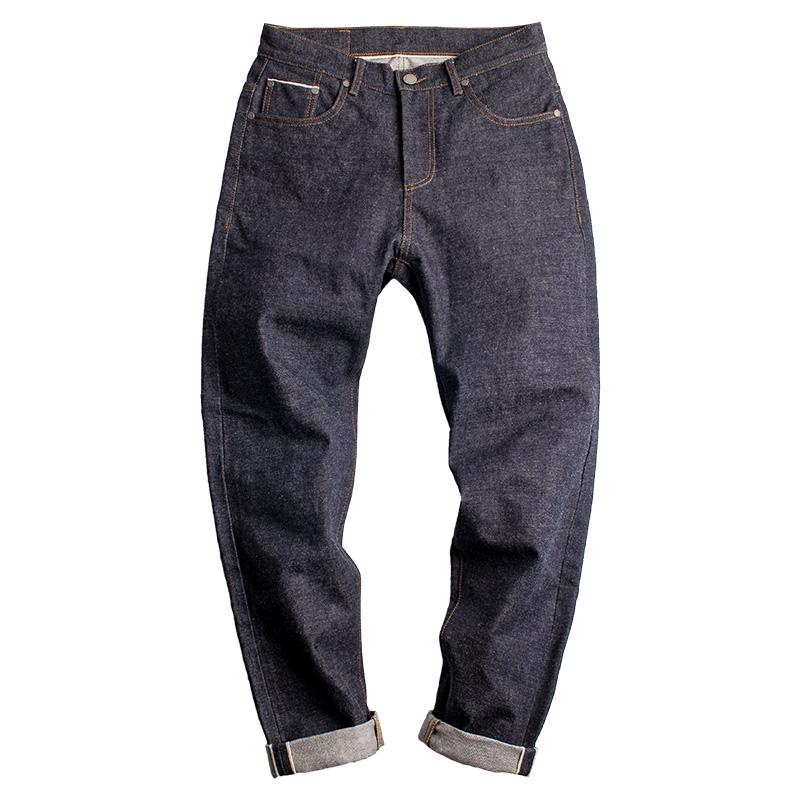 1f112054 2019 Maden 15OZ Raw Denim Men Jeans Red Ear Selvedge Vintage Japanese  AMEKAJI Straight Mid Waist Long Pants Trousers Clothing Bottoms From Silan,  ...