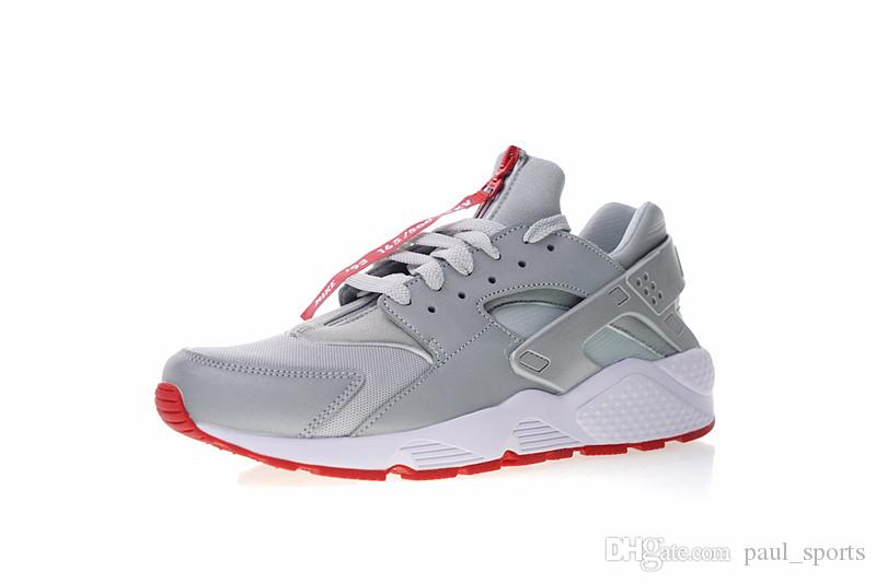 b823e031514b Limited Edition Shoe Palace X Huarache 25th Anniversary Silver Red 3M  Reflective Huaraches Running Shoes Men ...