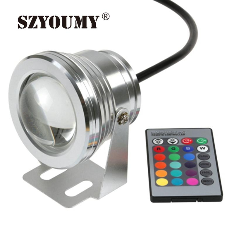 Szyoumy Dhl 10w 12v Led Underwater Lamp Cool White Warm White Waterproof Ip68 Fountain Pool Lamp Black And Silver Shell Cover Lights & Lighting