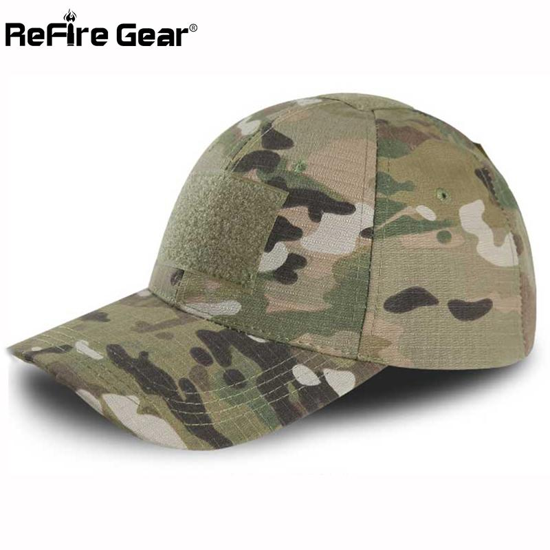 794517498c3 ReFire Gear Tactical Snapback Camouflage Hat US Army Tactical Baseball Cap  Men Casual Rip Stop Adjustable Paintball Combat Caps Flat Brim Hats Baby Cap  From ...