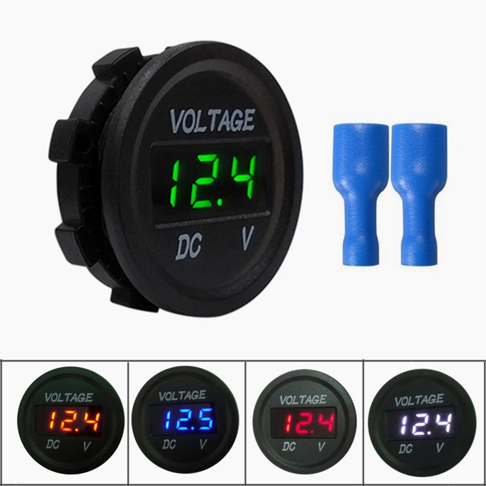 DC 12V Digital LED Panel DC Voltmeter Voltage Meter Display For Car  Motorcycle Boat