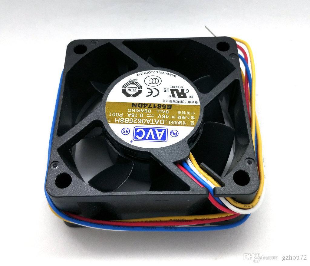 New Original AVC DATA0625B8H P00 DC48V 0.16A 60 * 60 * 25MM 4 linhas Dual Ball Bearing Inverter ventilador de refrigeração
