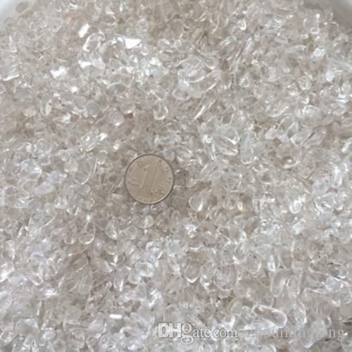 100g Rock Crystal Quartz Gravel White Thassos Decorate Aquarium fish tank Stone adorn detritus Healing Mineral massage Rough Rubble gemstone