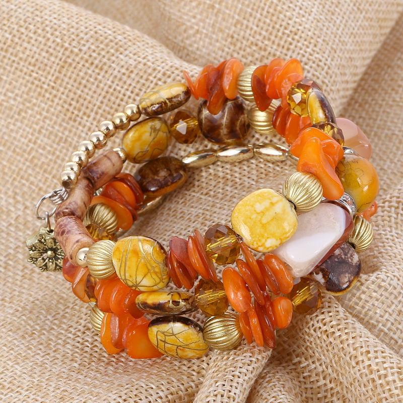 ZOSHI Bijoux Ethniques Bohême Coloré Perles Bracelet Bracelets Long Mode Charme Bracelets pour Femmes Pulseras Mujer Cadeau