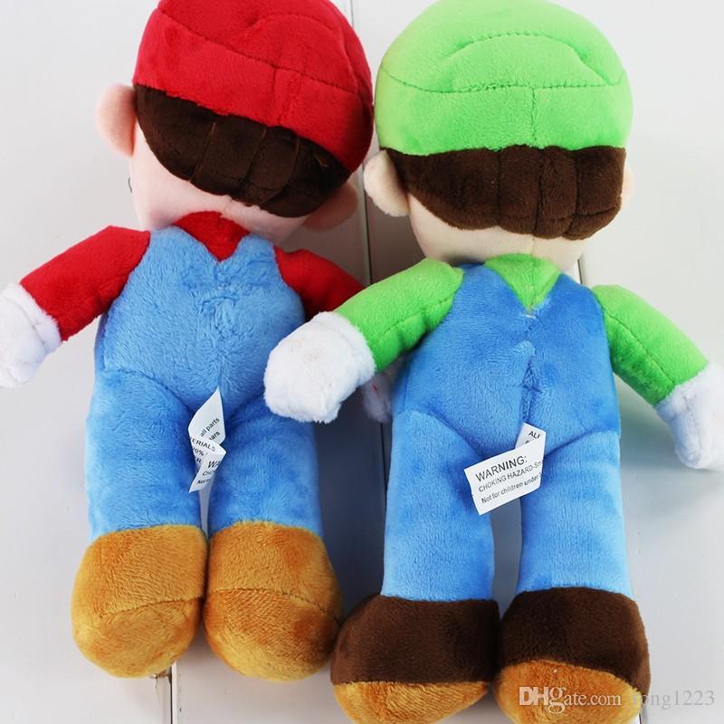 25cm Hot Game Super Mario Plush Toy Mario Luigi Soft Stuffed Doll With Tag