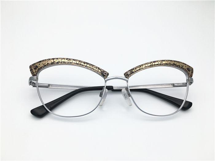 2717d6d839 2019 Vintage Retro Cat Eye Shape Women Half Rimless Acetate With Bling  Spectacle Frame Myopia Designer Glasses Prescription Clear Lens Eyeglass  From ...