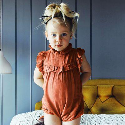 2e54b1c6a7a Newborn Baby Girl Princess Romper Sleeveless Jumpsuit Toddler ...