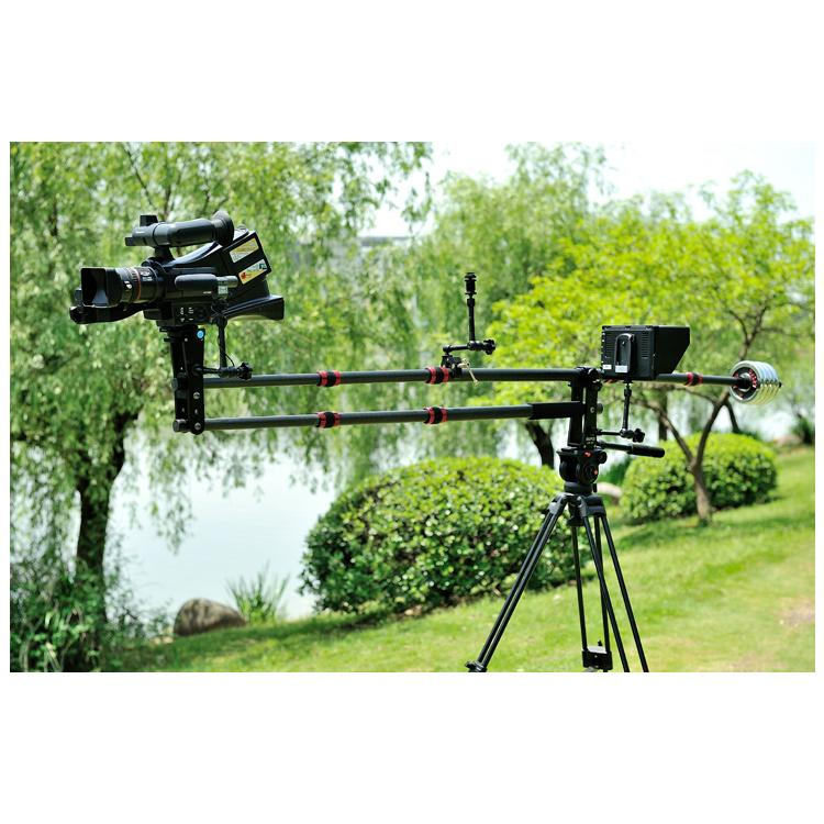 Professional Portable Carbon fiber Mini Jib Crane Video Camera DV DSLR Jibs Rocker Arm 6kg + Quick Release Plate with Bag