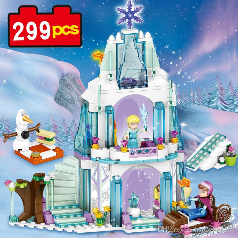 79168 299pcs building blocks Princess Sets princess set Ice Snow Castle lepin DIY model kid toys comparable with Nego