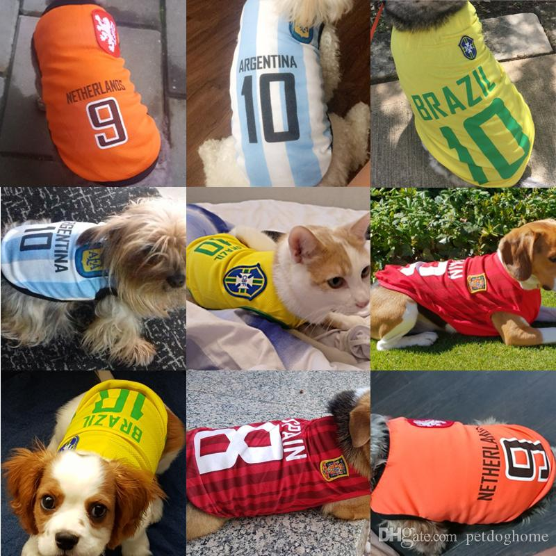 49984305f 2019 Sports Dog Vest Cat Shirt Pet Clothing Summer Cotton Sweatshirt  Football Jersey Dog Clothes For Small Medium Large Dogs XS 6XL From  Petdoghome, ...