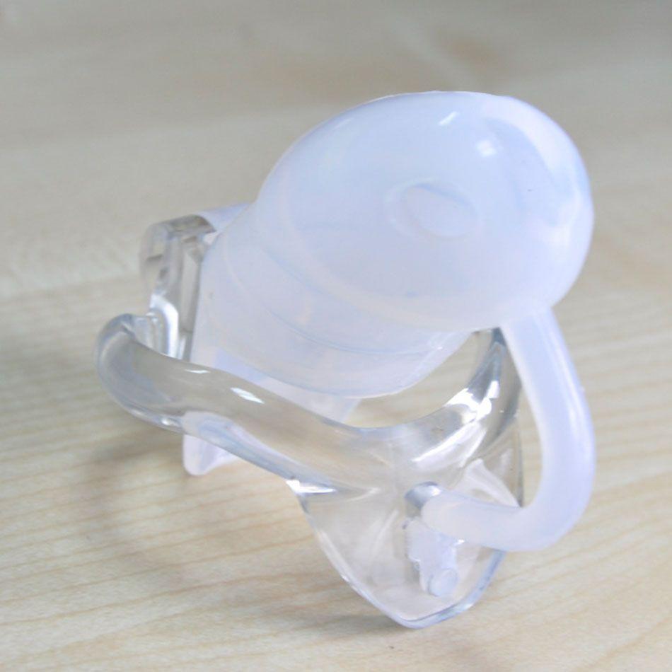 2018 nuovo piccolo maschio dispositivo di castità in silicone cock cage anello del pene con anello in resina fissa adulti cintura di castità giocattoli del sesso gli uomini